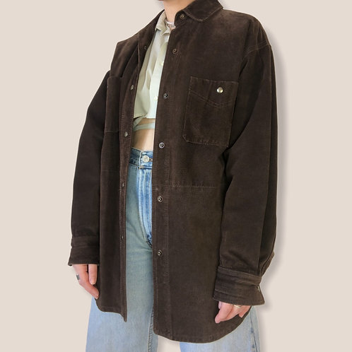 Genuine Suede Leather Over Shirt