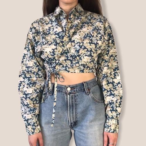 Re-Designer Floral Wrap Blouse (S-M-L)