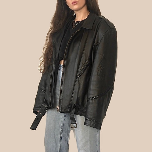 Live to Ride Leather biker jacket