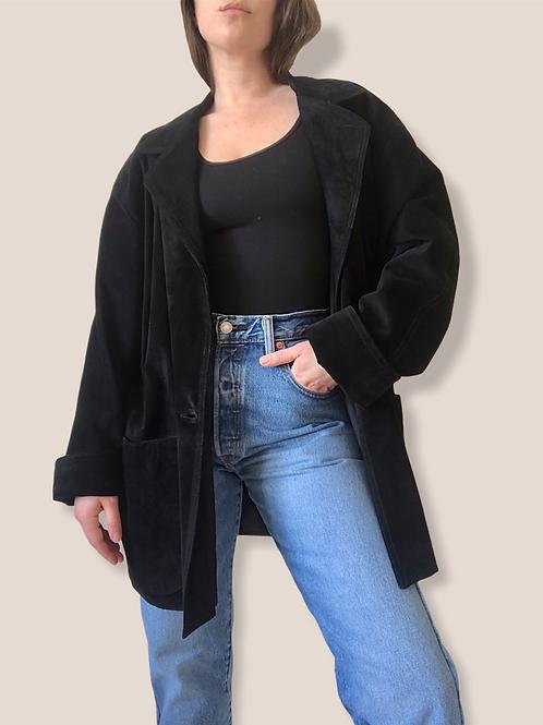 Suede blazer jacket