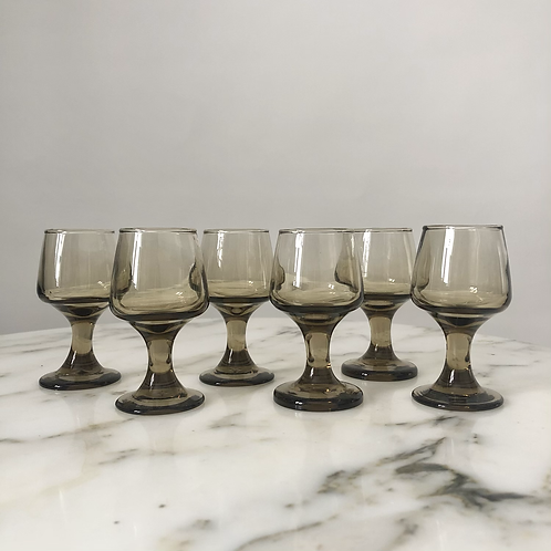 Set of 6 Vintage 70s Smoky Shooters