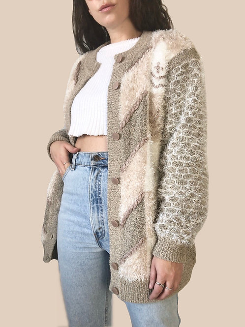 Fuzzy 80s-90s over shirt