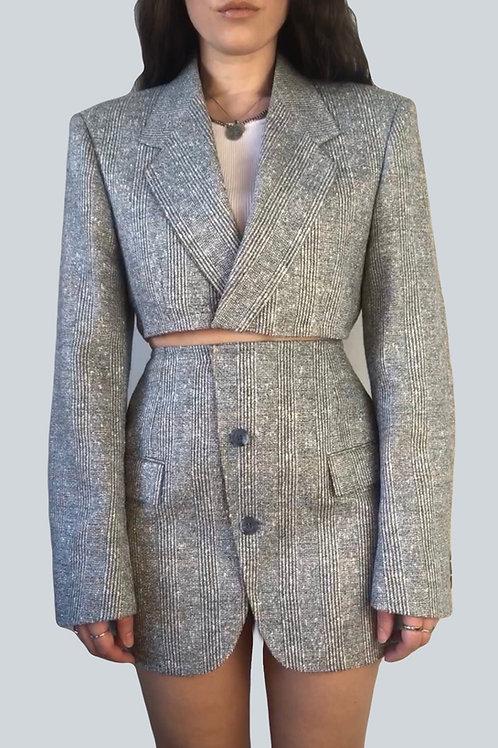 Re-designed Blazer set in grey (XS-S)