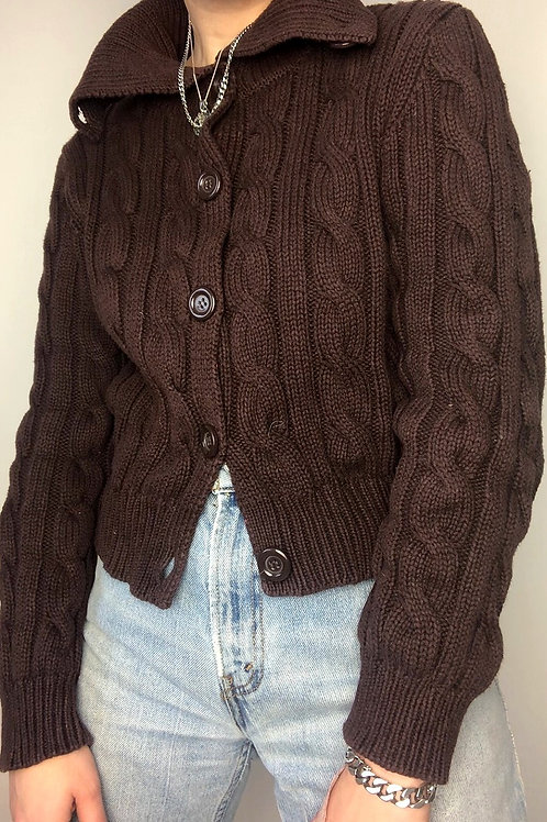 Milk Chocolate Cable knit Sweater