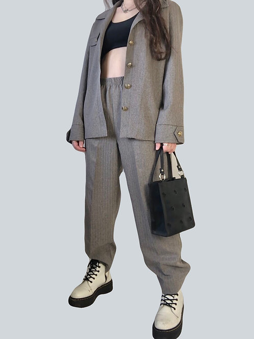 Vintage Pinstriped Suit