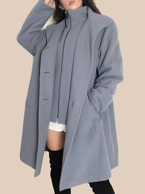 Nygard Powder Blue Wool Coat