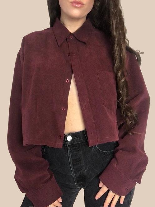 Burgundy Corduroy effect shirt