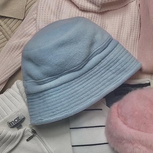 Baby blue fleece bucket hat