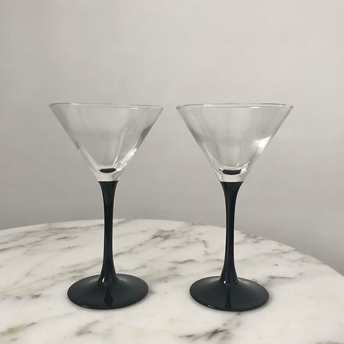 Set of 2 Martini Glasses