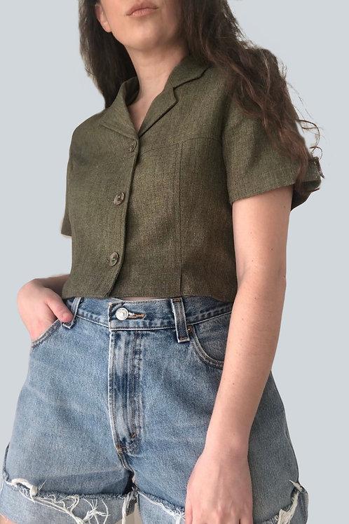 Vintage reworked blazer top