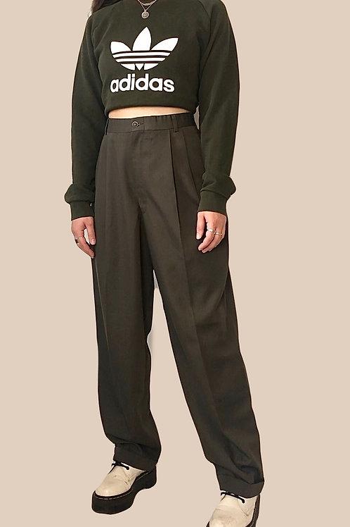 Khaki green trousers