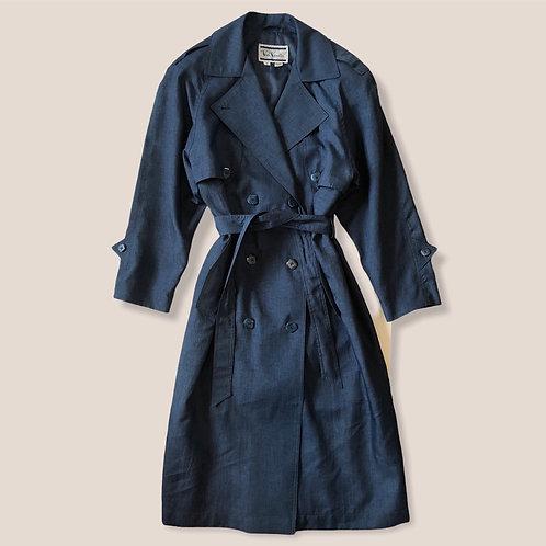 Vintage blue trench coat