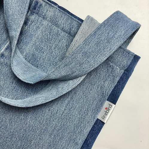 Two tone Recycled denim tote