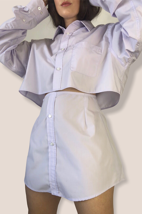 Re-Designed Blouse Set in Lilac (M)