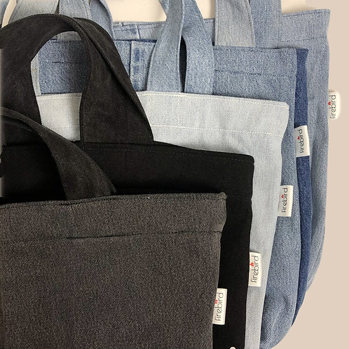 Recycled denim tote (make to order)