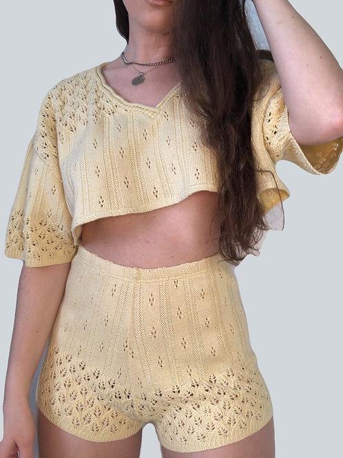 Pastel Yellow Crochet Set (S-M)
