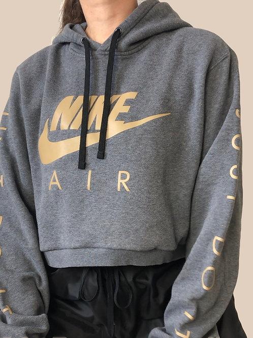 Reworked Nike crop hoodie