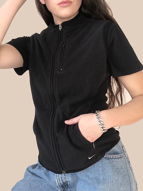 Nike fleece zip up vest (S)
