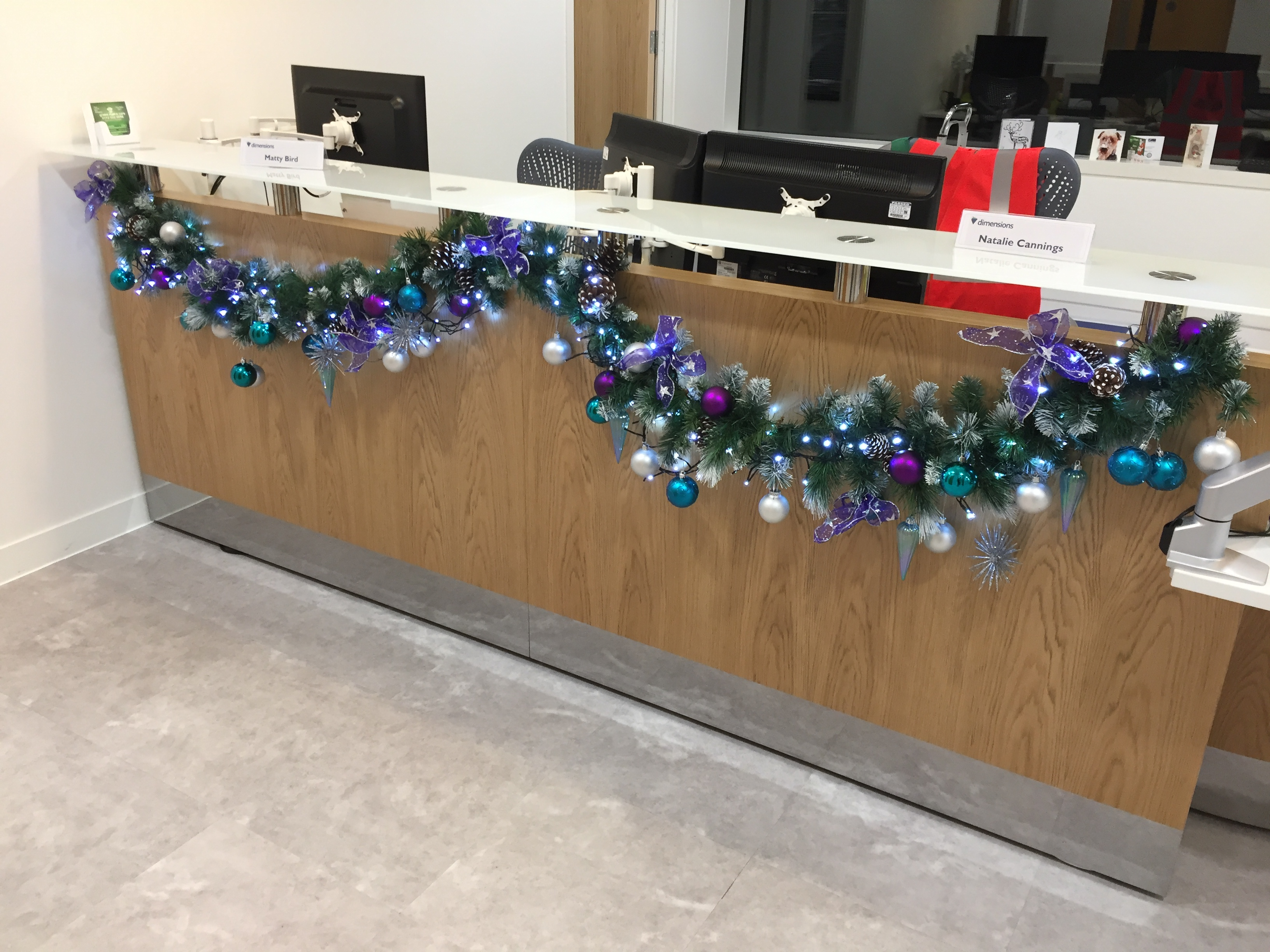Office reception christmas rental