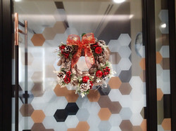 Office Christmas wreaths