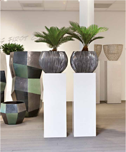 metal pedestal plant bowls