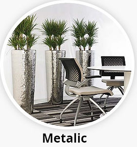 Metal Office Plant Container
