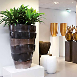 marble office plant display