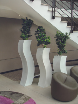 Curvy Office Plant Containers