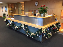 Christmas garland for reception