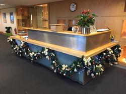 Christmas garland for reception
