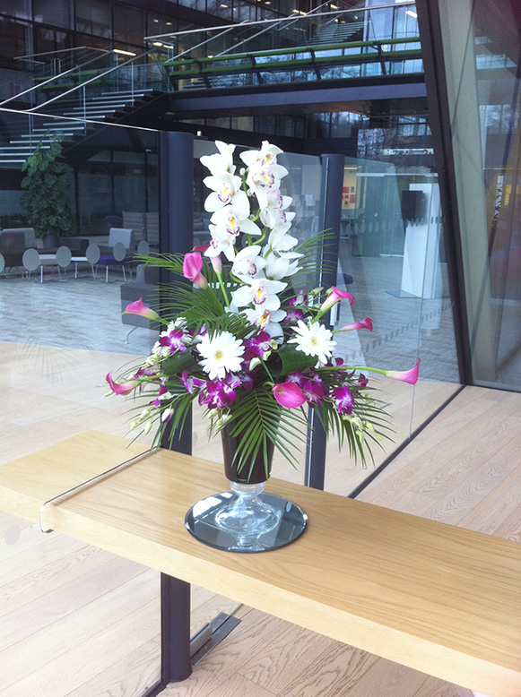 Luxury reception flowers for offices