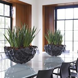 metal desktop office bowls for plants