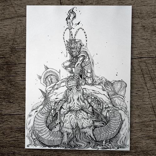 Battle of Monkey King and Demon Bull King