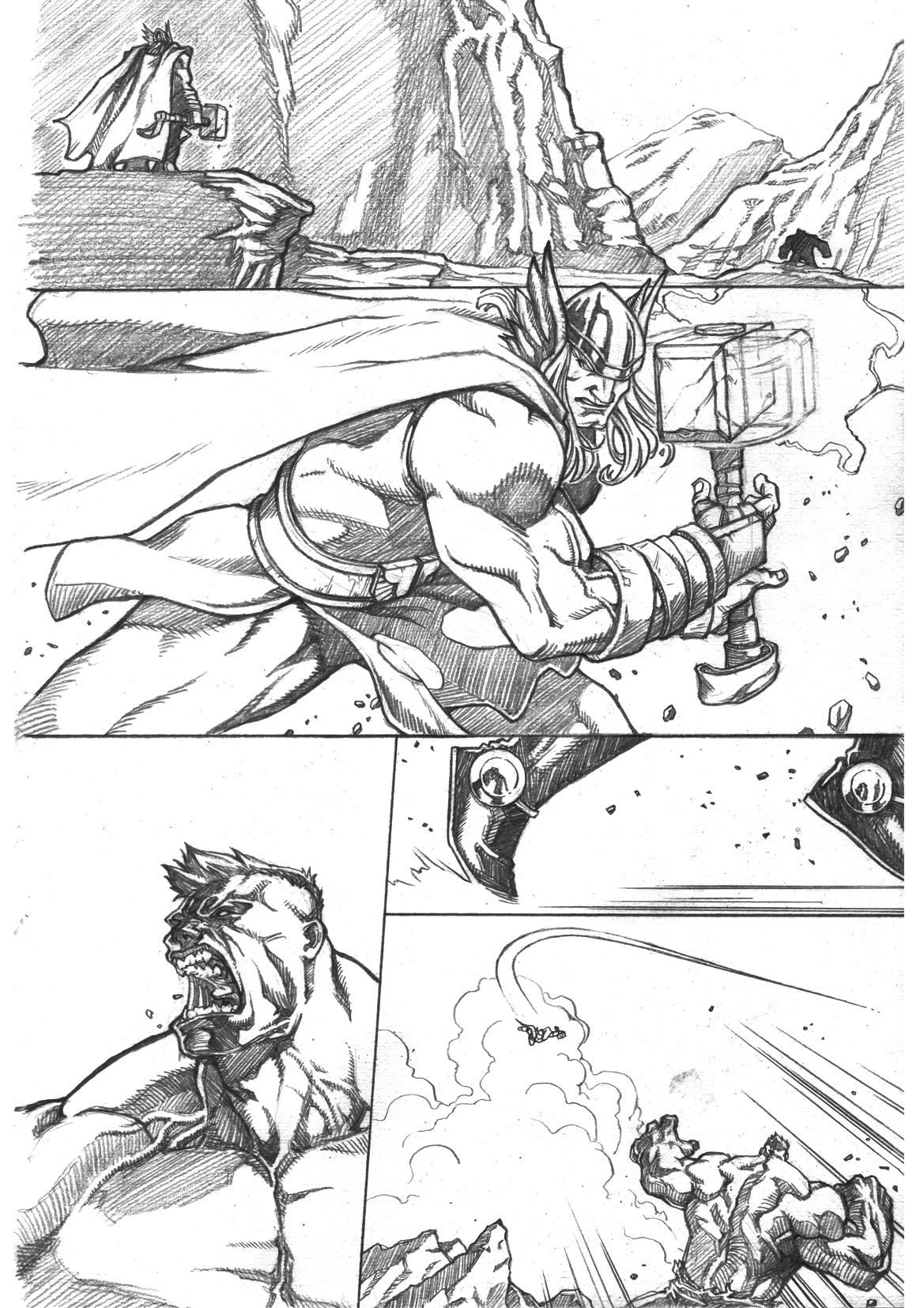 Thor Vs Hulk Page1