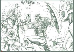 Captain America Nazi Party