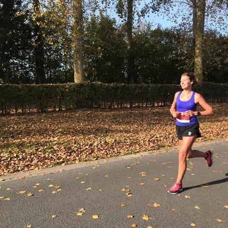 Marathondebuut van Tine Bex