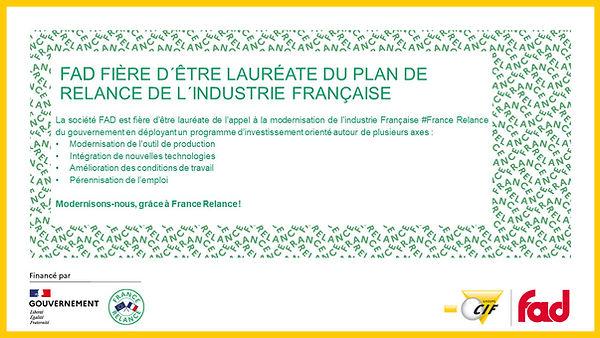 FAD Lauréate France Relance