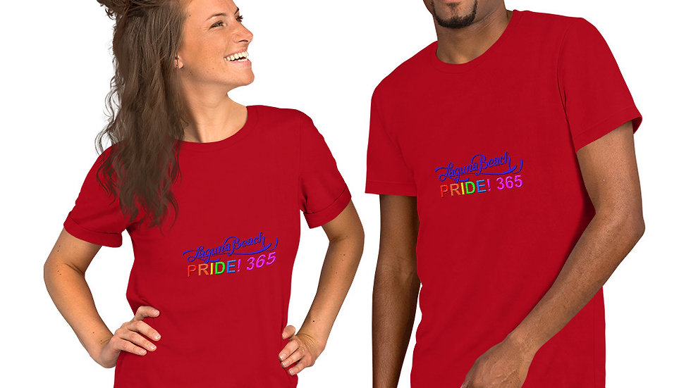 Laguna Beach Pride 365 Logo Short-Sleeve Unisex T-Shirt
