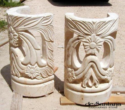 CANTERA HAND CARVED STONE TABLE BASE TB008.jpg
