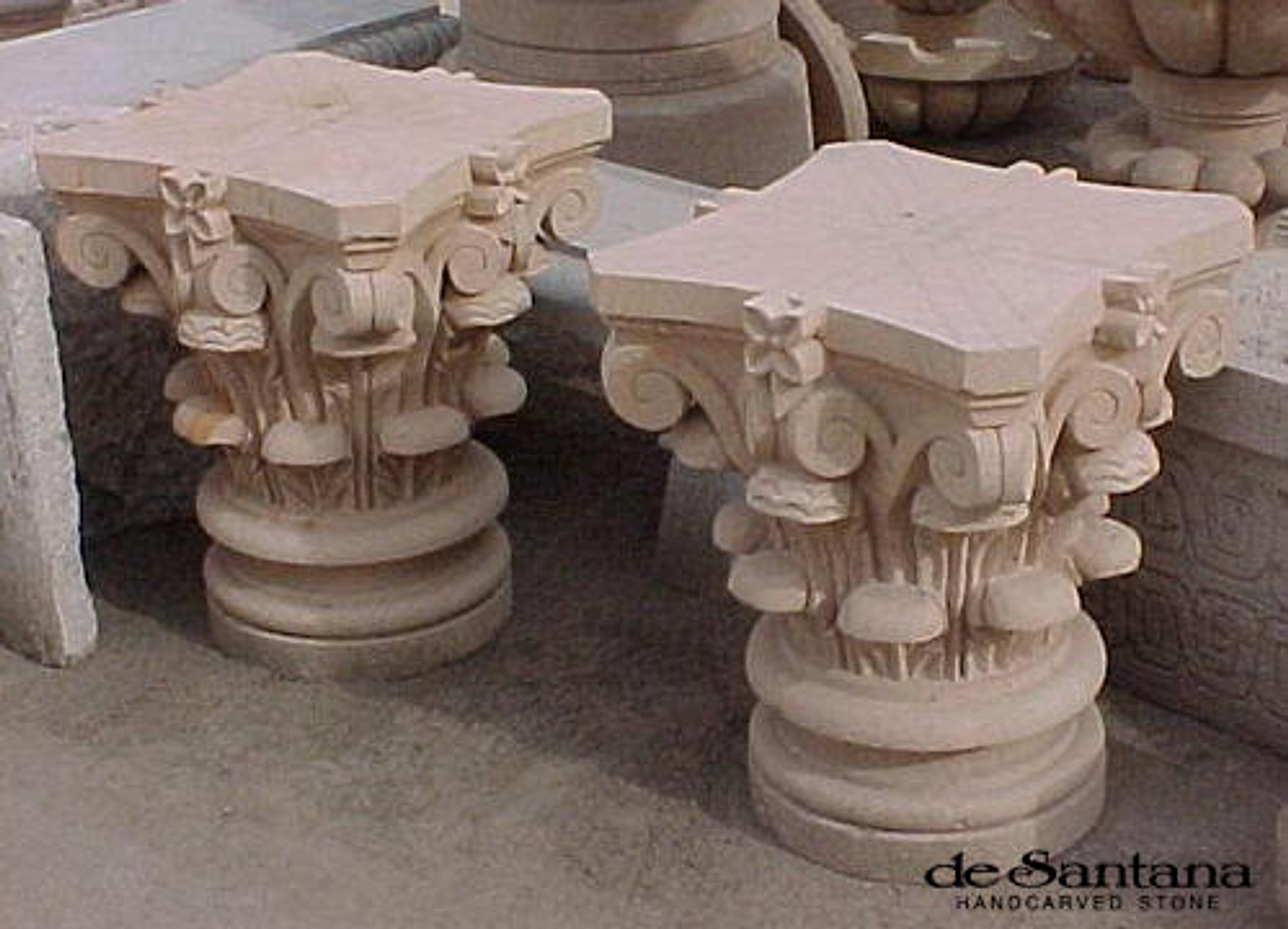 Awesome CANTERA HAND CARVED STONE TABLE BASE TB032