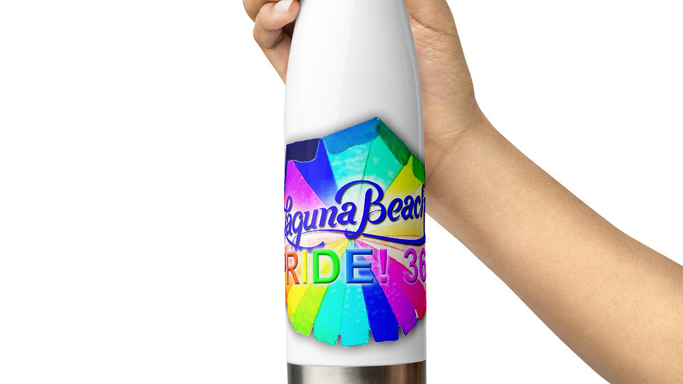 Laguna Beach Pride 365 Logo Stainless Steel Water Bottle