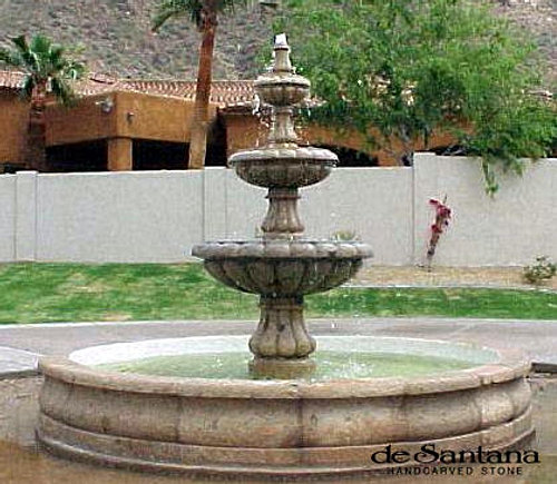 Hand carved stone fontains for Garden fountains phoenix
