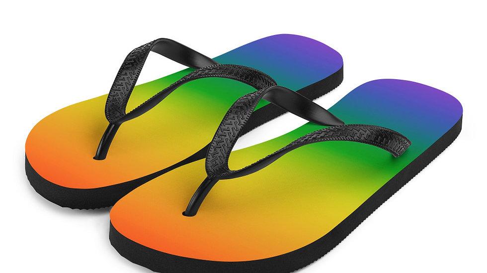 Laguna Beach Pride 365 - Rainbow Flip-Flops
