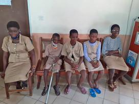 Que de sourires à l'école des aveugles de COTONOU!