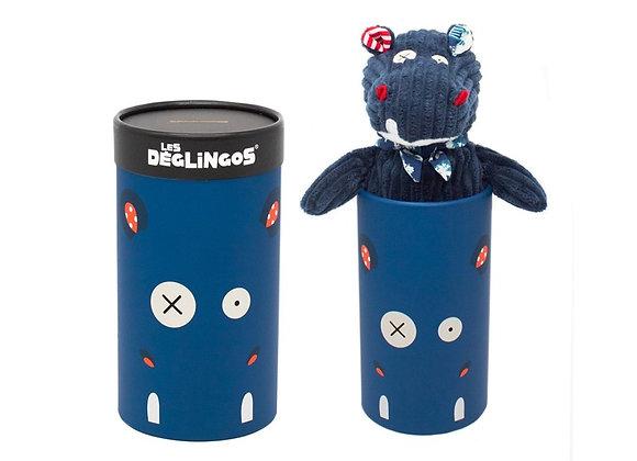Peluche ippopotamo in box - Les Deglingos