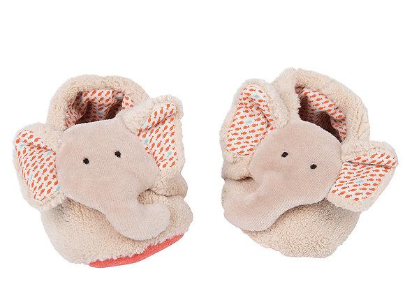 Ciabattine elefante 0-6 mesi - Moulin Roty