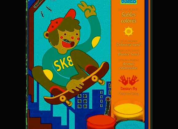 Cofanetto sabbia colorata Skater - Djeco