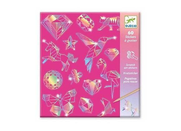 Carte da grattare stickers Diamante - Djeco