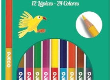 Set di colori a legno doppia punta - Djeco