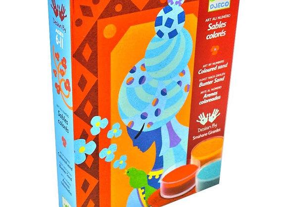 Cofanetto sabbia colorata principesse blu - Djeco